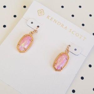 NWOT Kendra Scott Pink Kyocera Opal Earrings